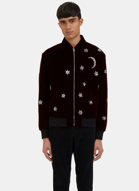 Stars and Moon Velvet Teddy Jacket
