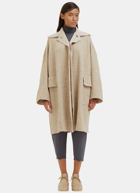 Oversized Mantle 2 Flecked Knit Coat