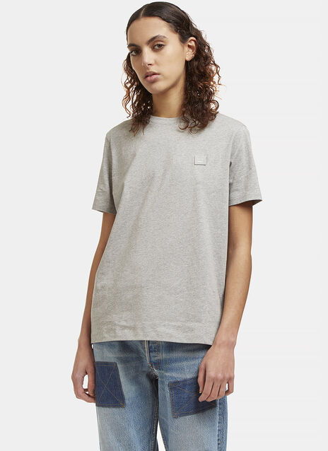 Acne Taline Face T-shirt in grey