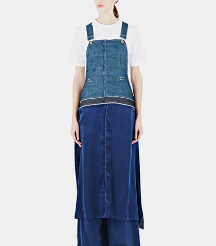 lncc female 201920 broken twill silk apron dungarees