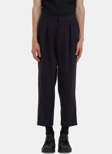 Oversized Cropped Rear Pleat Pants