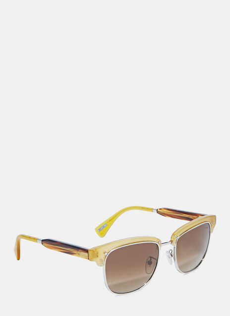 Clubmaster Squared Frame Sunglasses