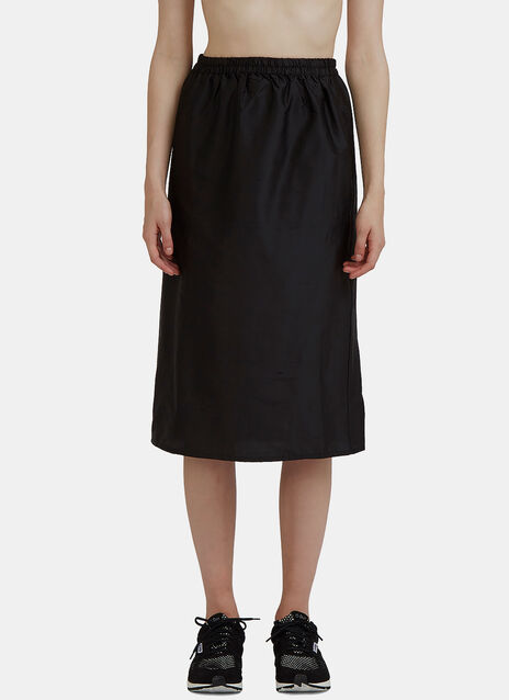 Mid-Length Silk Jogging Skirt