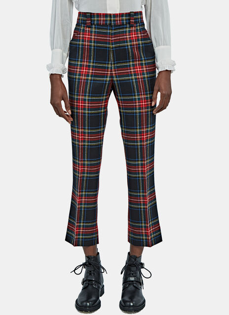 Cropped Plaid Pants