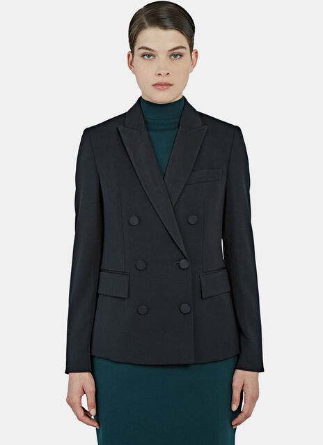 Karen Double-Breasted Tuxedo Jacket