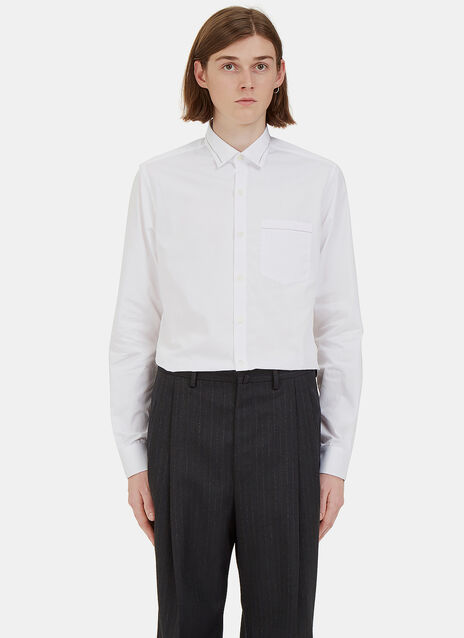 Threaded Trim Poplin Shirt