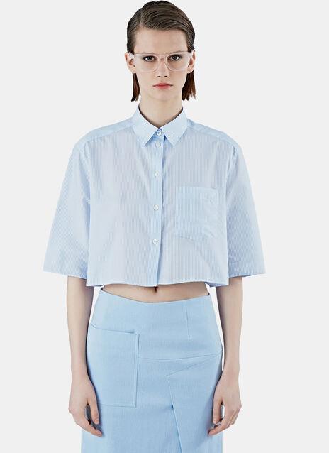 Genera Stripe Cropped Shirt