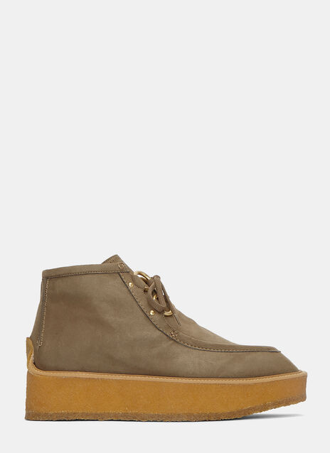 Faux Suede Platform Clipper Shoes