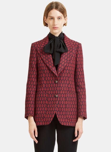 Woven Jacquard Blazer Jacket