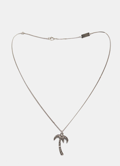 Short Hawaii Palm Charm Necklace