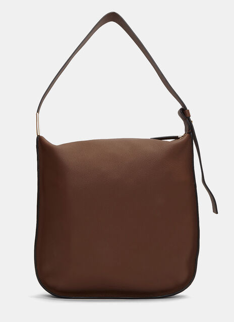 Midtown Grained Leather Shoulder Bag