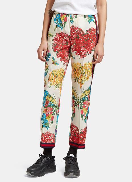 Corsage Print Silk Pyjama Pants