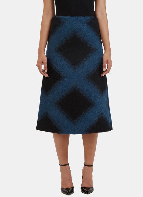 Printed Alpaca Wool Skirt