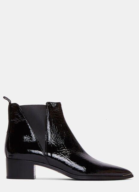 Jensen Naplack Patent Grained Ankle Boots