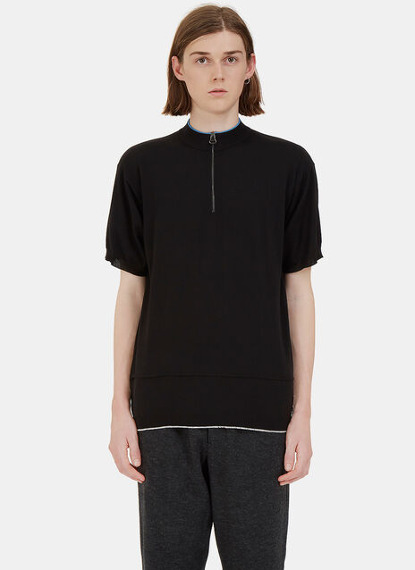 Lanvin Detail Jersey Stitch Zipped Tshirt