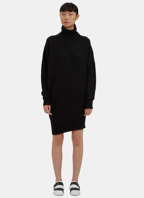 Daija Mohair Roll Neck Sweater Dress