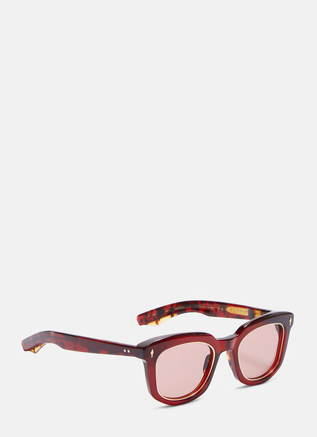 JACQUES MARIE MAGE PASONLINI SUNGLASSES IN BURGANDY