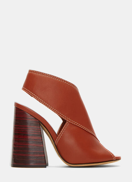 Winston Leather Block Heeled Sandals