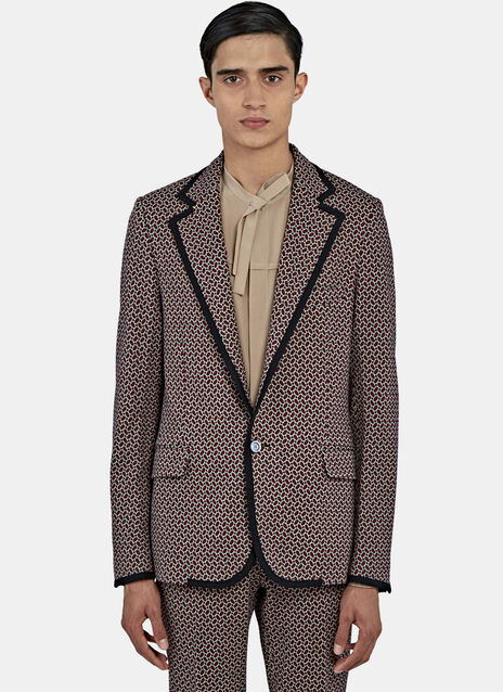 Tiled Jacquard Blazer Jacket