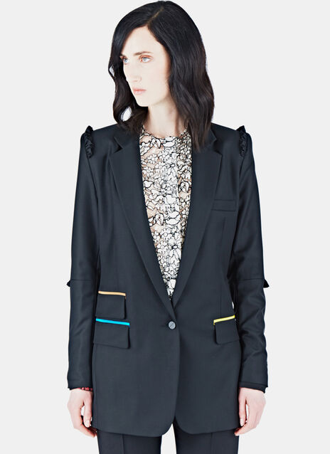 Tailored Frill Blazer Jacket