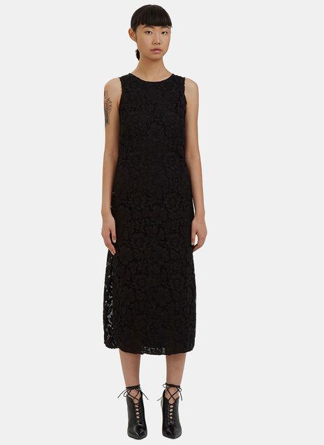 Long Lace Column Dress