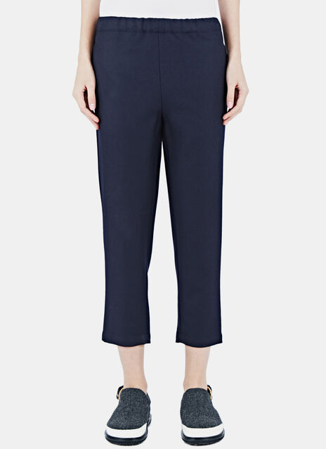 Relaxed Cropped Twill Pants