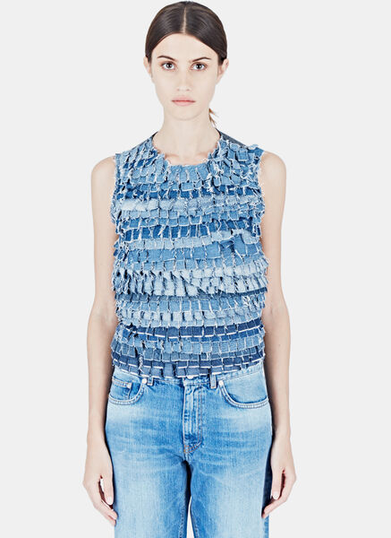 Image of Alexa Stark Recycled Denim Tank Top