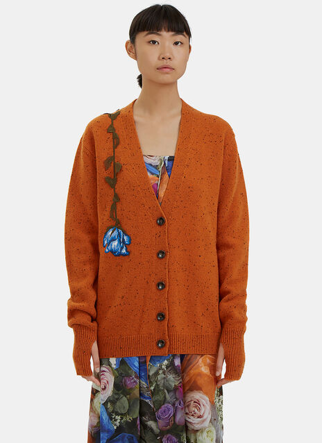 Lost & Found Embroidered Flower Cardigan