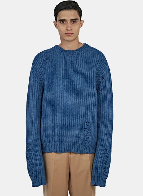 Thick Laddered Knit Sweater