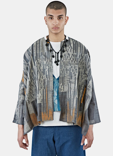 Silk Morph Embroidered Box Jacket