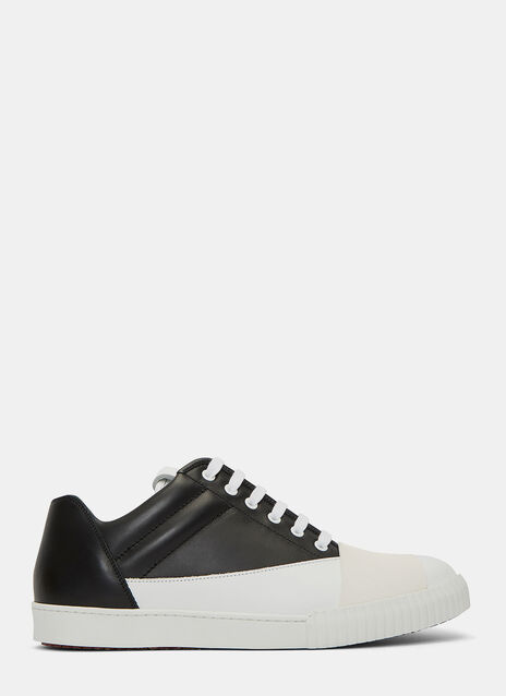 Bi-Colour Low-Top Sneakers