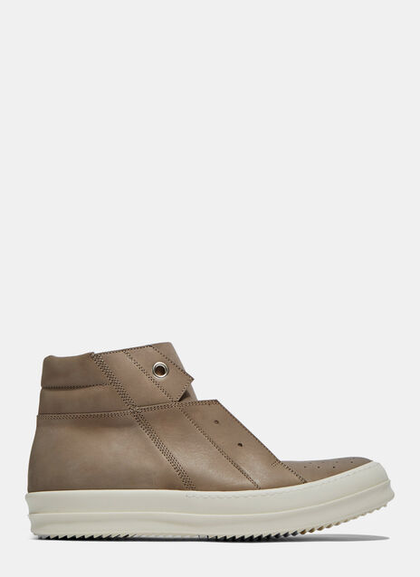 Island Dunk Leather Pull-On Sneakers