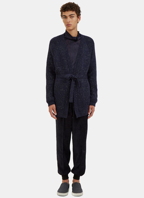 Metallic Flecked Knit Cardigan