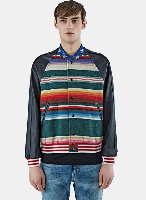 Striped Teddy Bomber Jacket