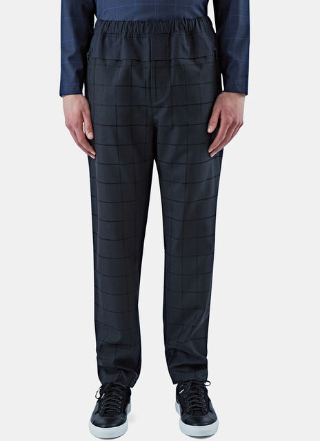 Drawcord Checked Pants