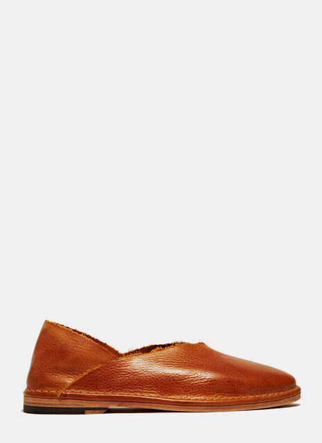 PETRUCHA STUDIO BROWN FLAT VEGAN SHOES
