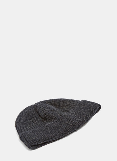 Mouline Ribbed Wool Hat