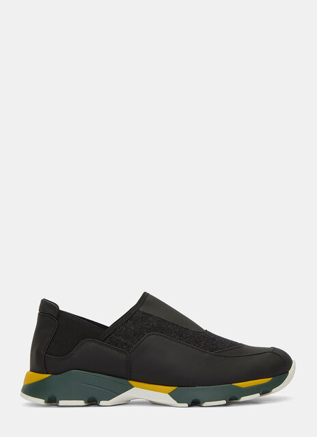 Slip-On Contrast Panelled Sneakers