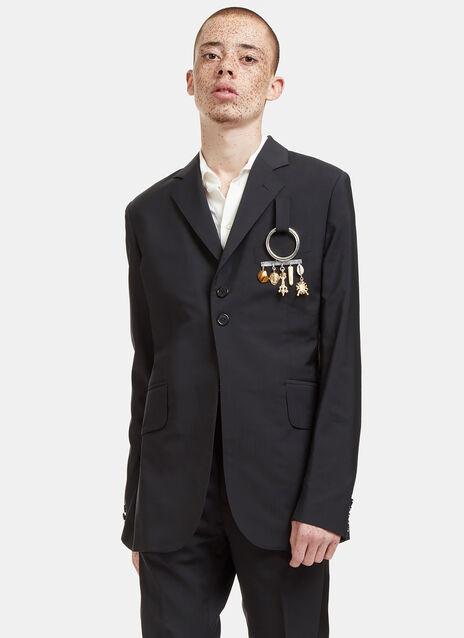 Alfred Charm Plaque Blazer Jacket