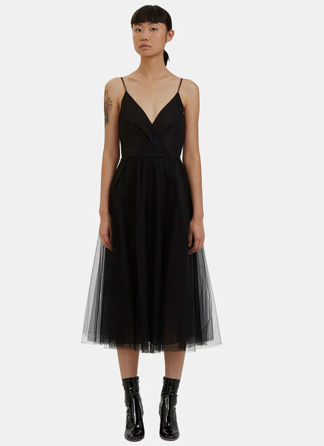 Tulle Mesh Spaghetti Strap Dress