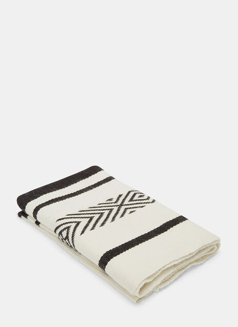 Comunidad Long Two-Tone Jacquard Wrap Scarf