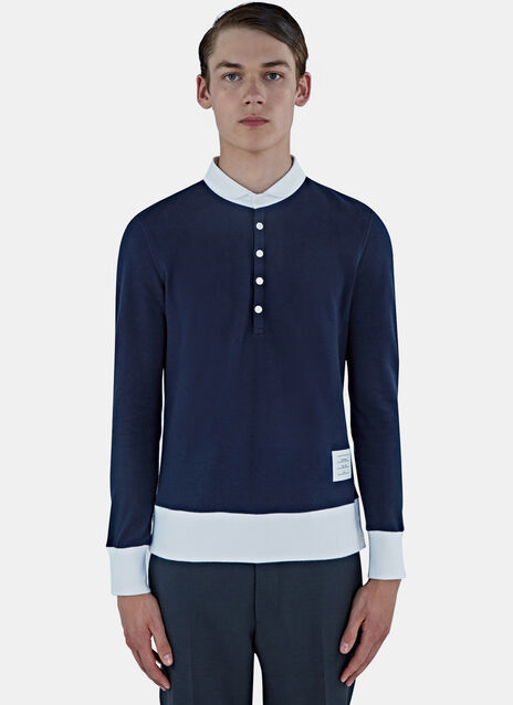 Classic Piqué Long Sleeved Polo Sweater
