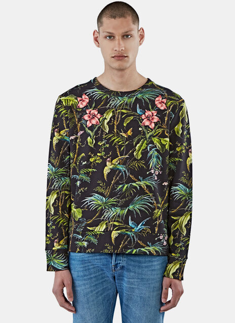 Tropical Print Jersey Sweater