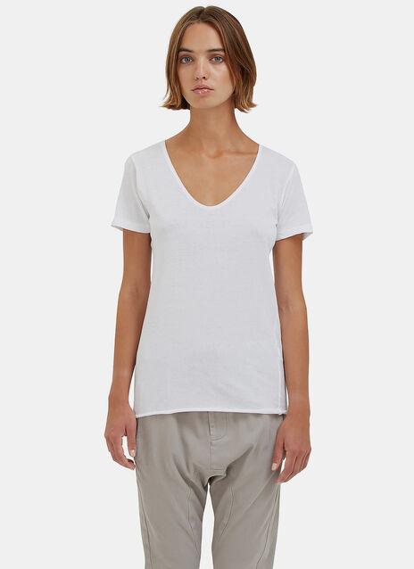 Bassike Scoop V Neck T.Shirt