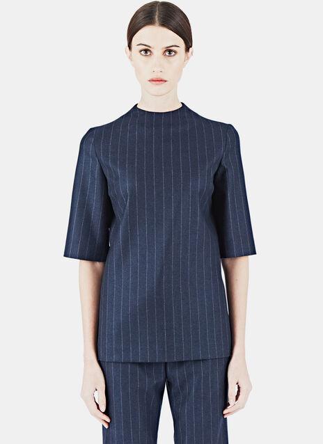 Pinstripe Wool Top