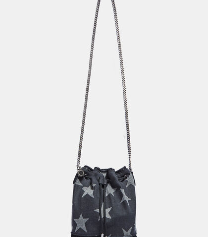 Falabella Small Starred Denim Bucket Bag