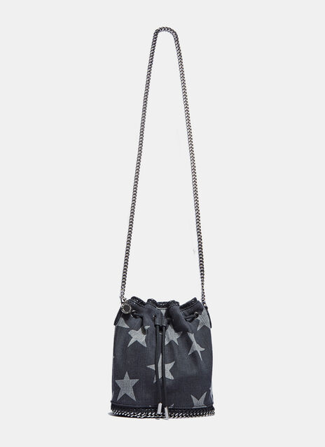 Falabella Small Starred Denim Bucket Bag