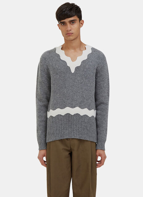 Kapila Waved Knit Sweater
