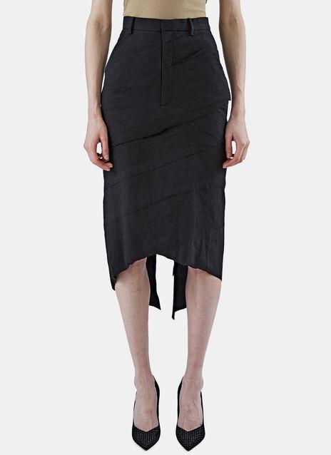 Asymmetric Layered Pencil Skirt