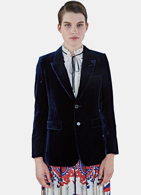 Angie Velvet Blazer Jacket